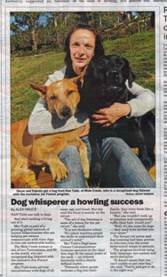 Nan Tubbs Tasmania Dog Listener Article
